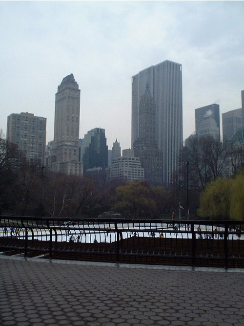 The famous ice-skating rink in Central Park, New York (March 2002)