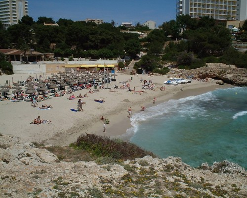 A nice beach in Majorca, shame about the sea full of jellyfish (2003)
