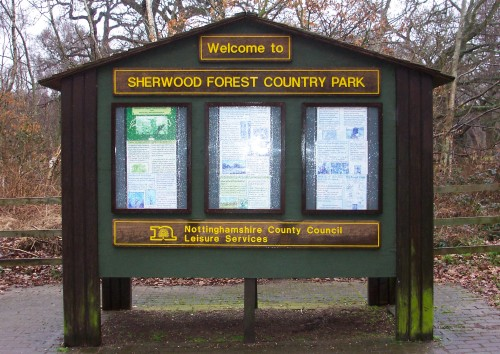 A nice Welcome to Sherwood Forest by the good people of Nottingham City Council, Sherwood Forest (2006)