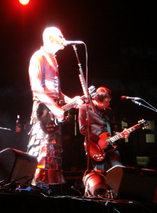 Billy Corgan, lit up like a lightbulb. We need to get Billy Corgan and Pinhead, from the Hellraiser movies, in the same room... just to make sure they are two different people. Nottingham (2008)
