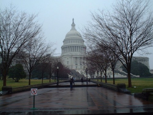 Capitol Hill in the rain, Washington D.C. (2002)