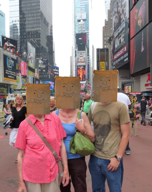 My Nan, Mum and Myself in Times Square! New York, 2009