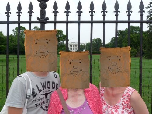 Myself, my Nan and my Mum outside the Whitehouse! Washington D.C. (2009)