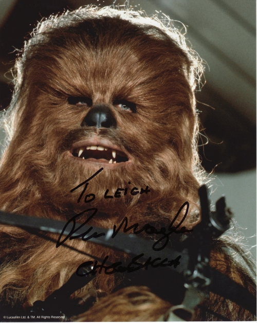 Peter Mayhew's autograph