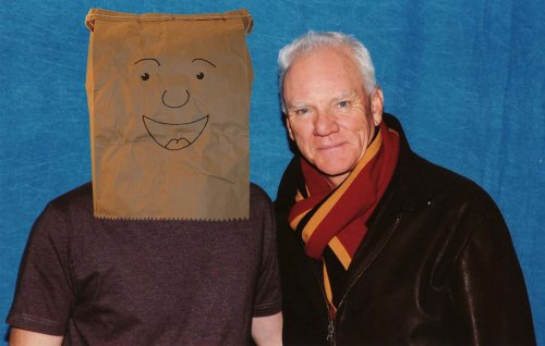 Malcolm McDowell and myself