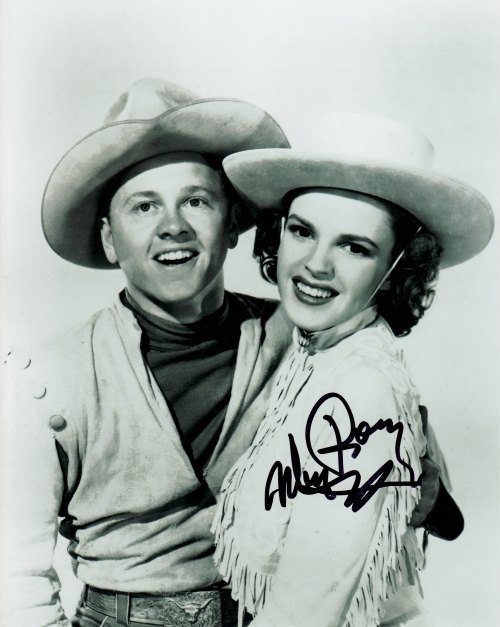 Mickey Rooney's autograph