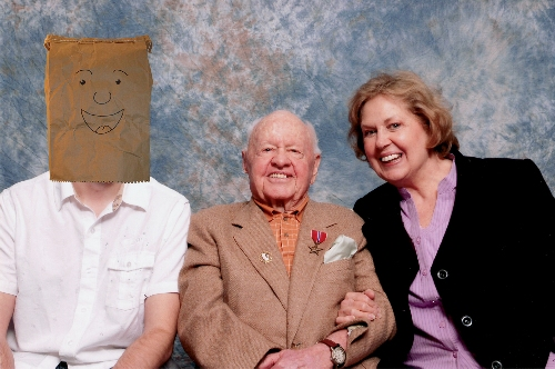 Mickey Rooney, his wife and myself