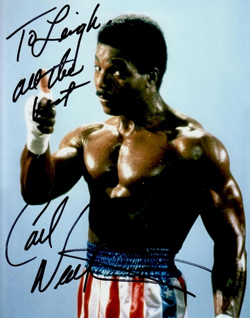 Carl Weathers' autograph