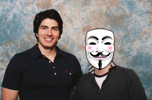 Brandon Routh and myself
