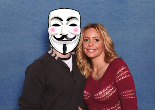 Olivia d'Abo and myself