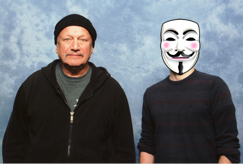 Steven Berkoff and myself