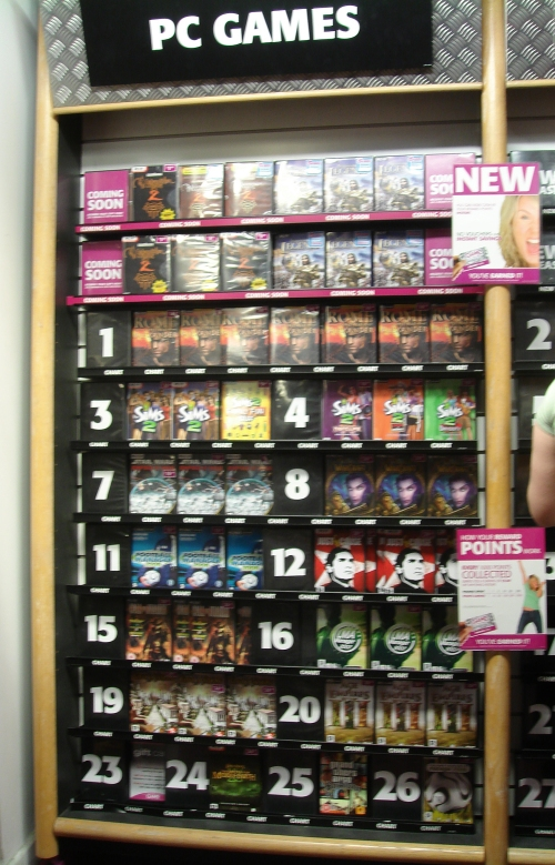 Number 16 in the charts on PC in GAME, Nottingham (2006)