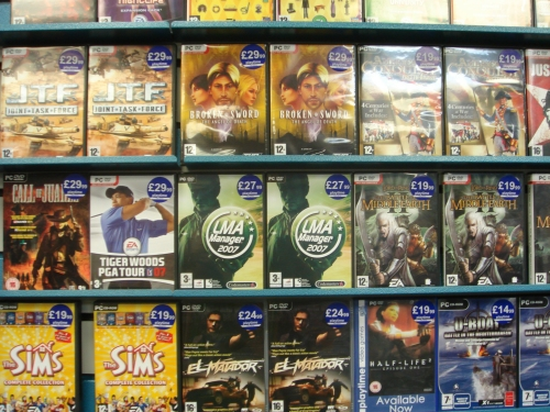 The PC version on the shelf in a local video game store, Nottingham (2006)