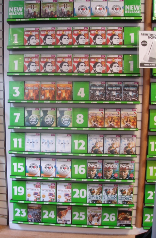 The Xbox 360 version on the shelf in GAME, Leeds (2006)